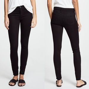 NWT J Brand Super Skinny Luxe Sateen Black Jeans